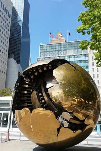 뉴욕 국제연합(UN) - 지구본