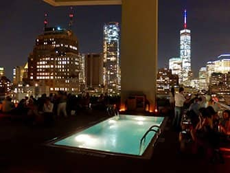 뉴욕 루프탑바 - 지미 수영장