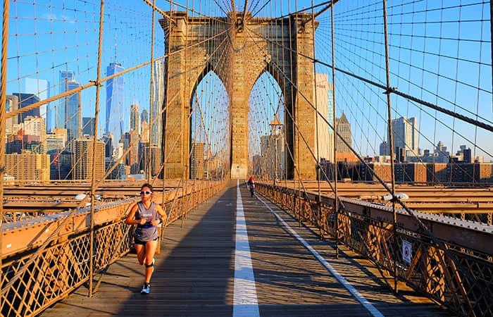 뉴욕 브루클린 브리지 - 달리기