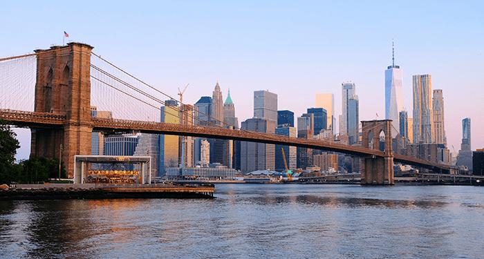 뉴욕 브루클린 브리지 - 스카이라인
