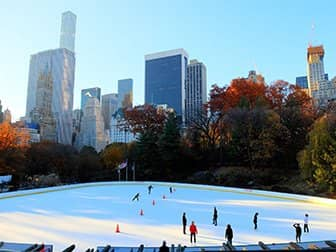 뉴욕 센트럴파크 - 월먼 링크에서의 스케이트