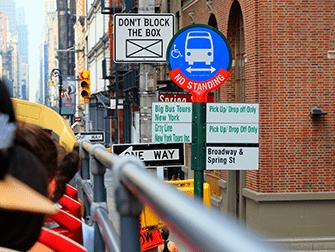 뉴욕 시티투어 버스 - 버스정류장