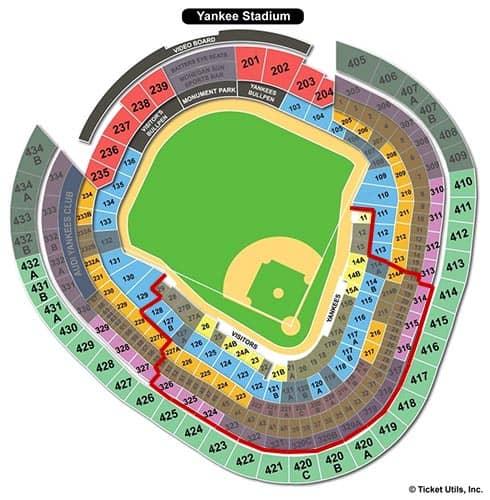 뉴욕 양키스 - 양키 스타디움 좌석표