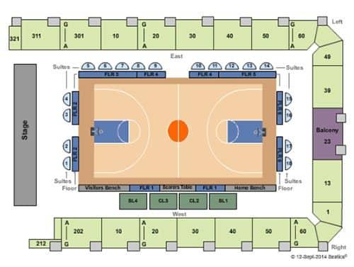 뉴욕 리버티 농구 티켓 - 좌석도