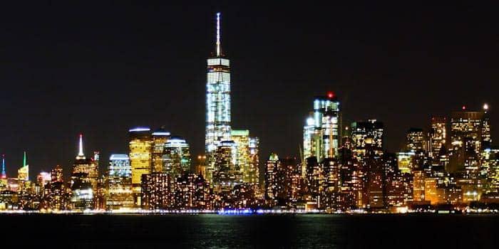 뉴욕 나이트 투어 - 수상택시 뷰