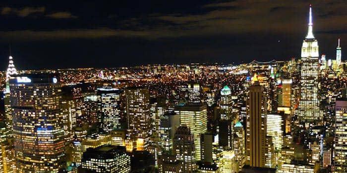 뉴욕 나이트 투어 - 탑 오브 더 락 야경
