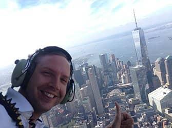 뉴욕 문 없는 헬리콥터 투어 - 셀카
