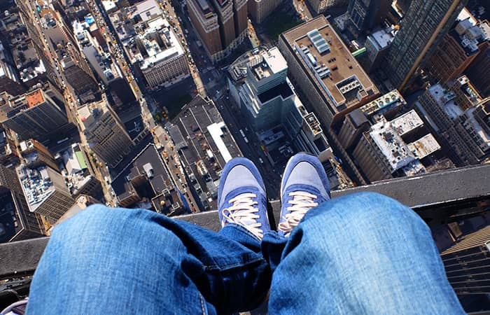 뉴욕 문 없는 헬리콥터 투어 - 신발셀카
