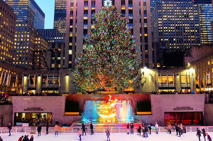 뉴욕의 크리스마스 시즌 - 록펠러 크리스마스 트리