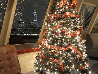 뉴욕 크리스마스 디너 크루즈 - 크리스마스 트리
