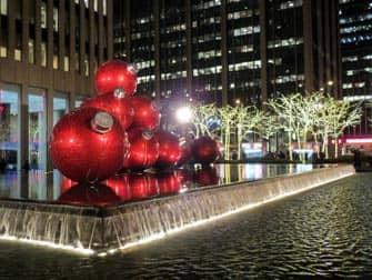 뉴욕의 크리스마스 장식