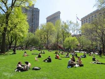 뉴욕의 공원 - 매디슨 스퀘어 가든 사람들