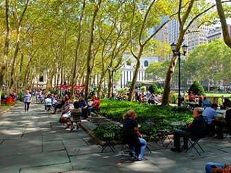 뉴욕의 공원 - 브라이언트 파크 테라스
