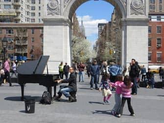 뉴욕의 공원 - 워싱턴 스퀘어 공원 라이브 음악