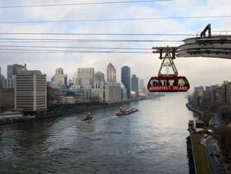 뉴욕 루즈벨트 아일랜드 트램 - 퀸스보로 다리에서