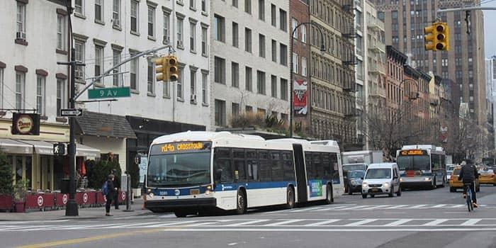 뉴욕 버스 - 9번가 버스