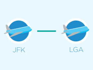 JFK에서 라과디아 혹은 라과디아에서 JFK