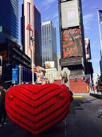 뉴욕 밸런타인데이 - 타임스퀘어