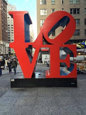 뉴욕 밸런타인데이 - LOVE 조형물