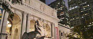 뉴욕 공공도서관 - 밤